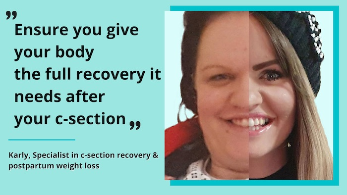 Ensure you give your body the full recovery it needs after your c-section